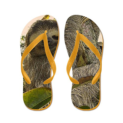 CafePress Sloth - Flip Flops, Funny Thong Sandals, Beach Sandals Orange