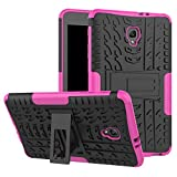 Tab A 8.0 T380 Case DWaybox Hybrid Rugged Heavy Duty Armor Hard Back