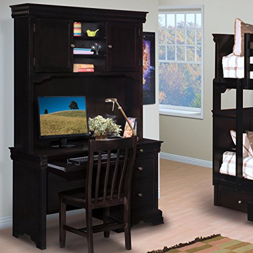Black Hills Traditional Youth 3 Piece Desk, Hutch & Chair Set in ()