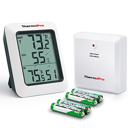 ThermoPro-TP60-Digital-Hygrometer-Indoor-Outdoor-Thermometer-Humidity-Monitor-with-Temperature-Gauge-Humidity-Meter-Wireless-Outdoor-Hygrometer-200ft60m-Range