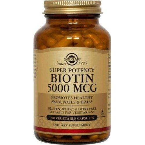 Solgar - Biotine, 5000mcg, 100 veggie caps
