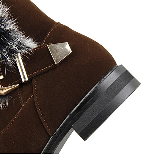 resistenza stivali 37 Rosso da marrone invernali tallone cintura Nero fibbia HDonne basso H brown Verde usura antiscivolo neve di gomma scrub xUFqpB