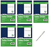 Adams Sales Order Book, 2-Part, Carbonless, White/Canary, 5-9/16 x 8-7/16 Inches, 50 Sets per Book, 5 Books, 250 Sets Total (DC5805) - Bundle Includes a Letter Opener