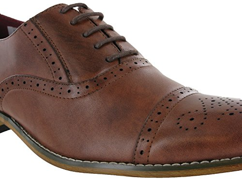 Lace Wedding Dress Oxford Mens Brogue Leather Goor Lined Smart Shoes Brown Capped zwAnEt