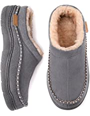 Zigzagger Mannen voelde Fuzzy ademende slippers memory foam indoor outdoor huis schoenen