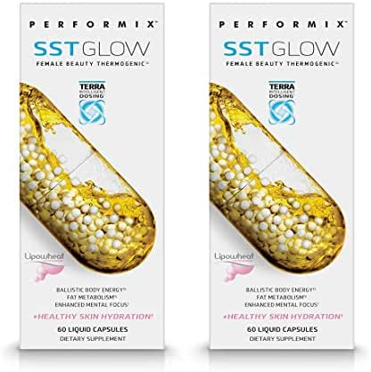 Performix SST Glow Original Female Beauty Thermogenic, Energy, Fat Metabolism, Skin Hydration, 120 Capsules