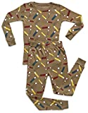 Leveret Organic Cotton Pencil 2 Piece Pajama Set 14 Years