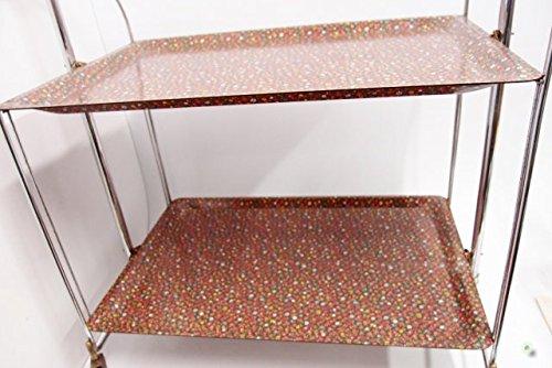 dinett 60er camarera Vintage Flores - Mesa auxiliar plegable carrito mesa: Amazon.es: Hogar