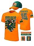 John Cena Kids 15x Orange Costume Hat T-shirt Wristbands Boys-YS