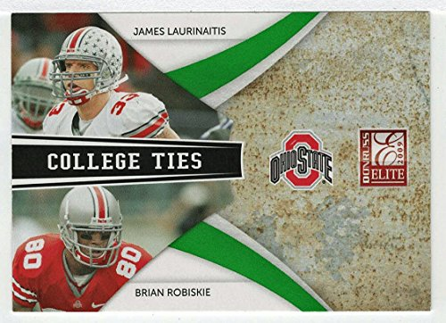 James Laurinaitis / Brian Robiskie 818/899 (Football Card) 2009 Donruss Elite College Ties GREEN # 10 - Combos ()
