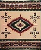 Tan Southwest Design Polar Fleece Throw Blanket 50x60