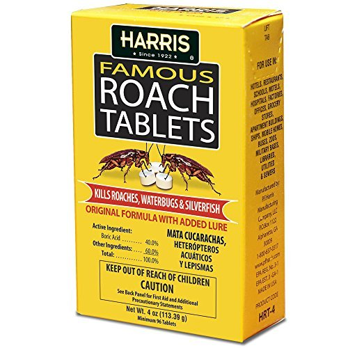 Foundation Pellets - Harris Famous Roach & Silverfish Killer, 4oz Tablets - Treats a Minimum of 8 Rooms, 95+ Tablets Included