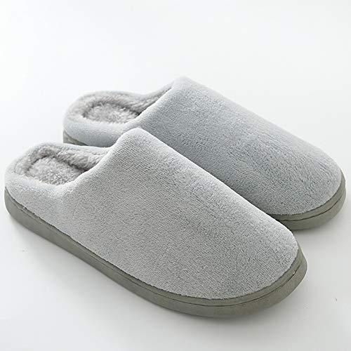 Peluche Gray Morbido Fondo Gray Lebao Home Ciabatte Calore Casa Paio Dimensioni Pattini Cotone Pantofola Scarpe Pantofole Spesso 45 44 inverno Cotone colore tww1ZxnSqX