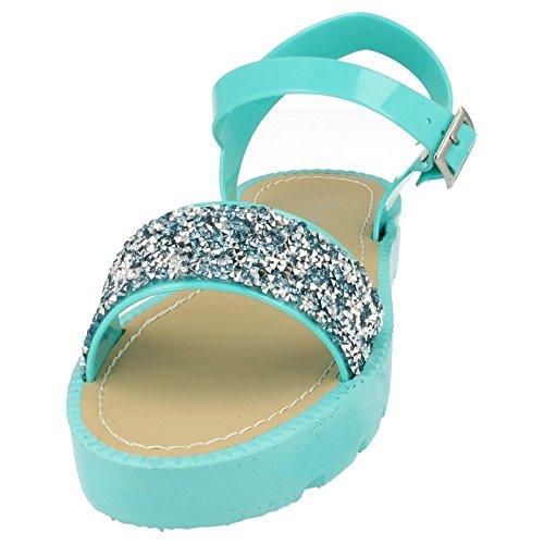 Glitter Glitter Sandal Ladies Flatform Green Green Sandal Ladies Ladies Flatform Flatform gAqRndd