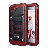 Mitywah Waterproof Case Compatible with iPhone 6 / 6S, [Full Body Protective] Cover Built-in [Shield Screen Protection] [Shockproof] [Military Grade Defender] [Metal] [Heavy Duty ] Armor Outdoor, Red