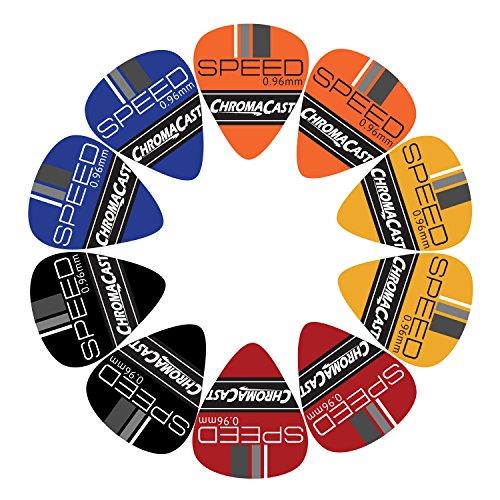 ChromaCast CC-CP-SPEED-H-10A Speed Series Celluloid Guitar Picks (.96m) 10 Pack, Heavy Gauge, (351 Vintage Celluloid Guitar Picks)