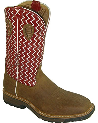 Distressed Twisted On Toe Lite Boot Work US Pull Steel Men's X Pqz7PxFwS