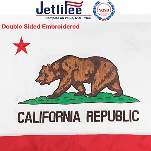 Jetlifee California State Flag 3x5 Ft by U.S. Veterans Owned
