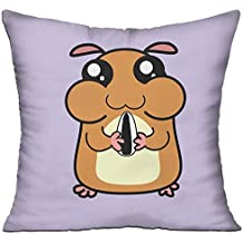Cute Hamster Eating Melon Seed Clip Art Sofa Bed Home Decor Throw Pillow Cover Hug Plush Pillow