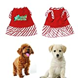Female Dog Cat Dress Girls Cute Christmas Printed Puppy Clothes Costume Vest Pet Apparel