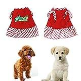 abcnature Christmas Pet Dog Cat Dress Cute Letter Printed Puppy Clothes Costume Vest Warm Apparel Winter Warm