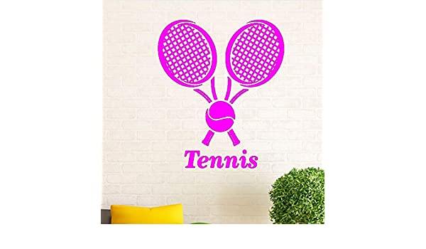 zqyjhkou Tenis Deportes Calcomanía de Pared Pelota de Tenis ...
