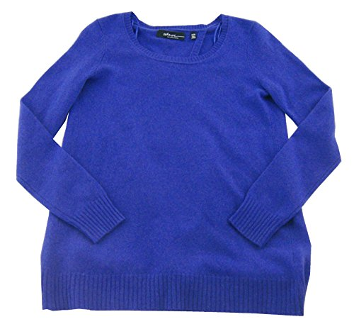 saks-fifth-avenue-womens-split-back-crewneck-cashmere-sweater-blueberry-large