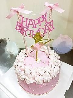 Amazon Com Bling Story 10pcs Glitter Ballerina Cupcake Toppers