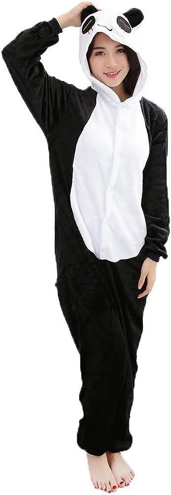 rosemaryrose One-Piece Panda Costume Animal Onesie Adult Cosplay Costume Adult Unisex Pyjamas M//L//XL