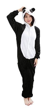 4967f20f6bb4 Amazon.com  Panda Cosplay Pajamas Adult Unisex Onesies Animal Sleepwear  Halloween Costume  Clothing
