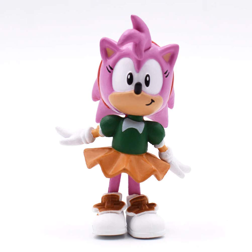 LQT Ltd 6Pcs//Set 7cm So-nic Figures Toy PVC Toy So-nic Shadow Tails Characters Figure Toys for Children Animals Toys Set