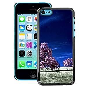 Snap-on Series Teléfono Carcasa Funda Case Caso para iPhone 5C , ( Purple Fields )