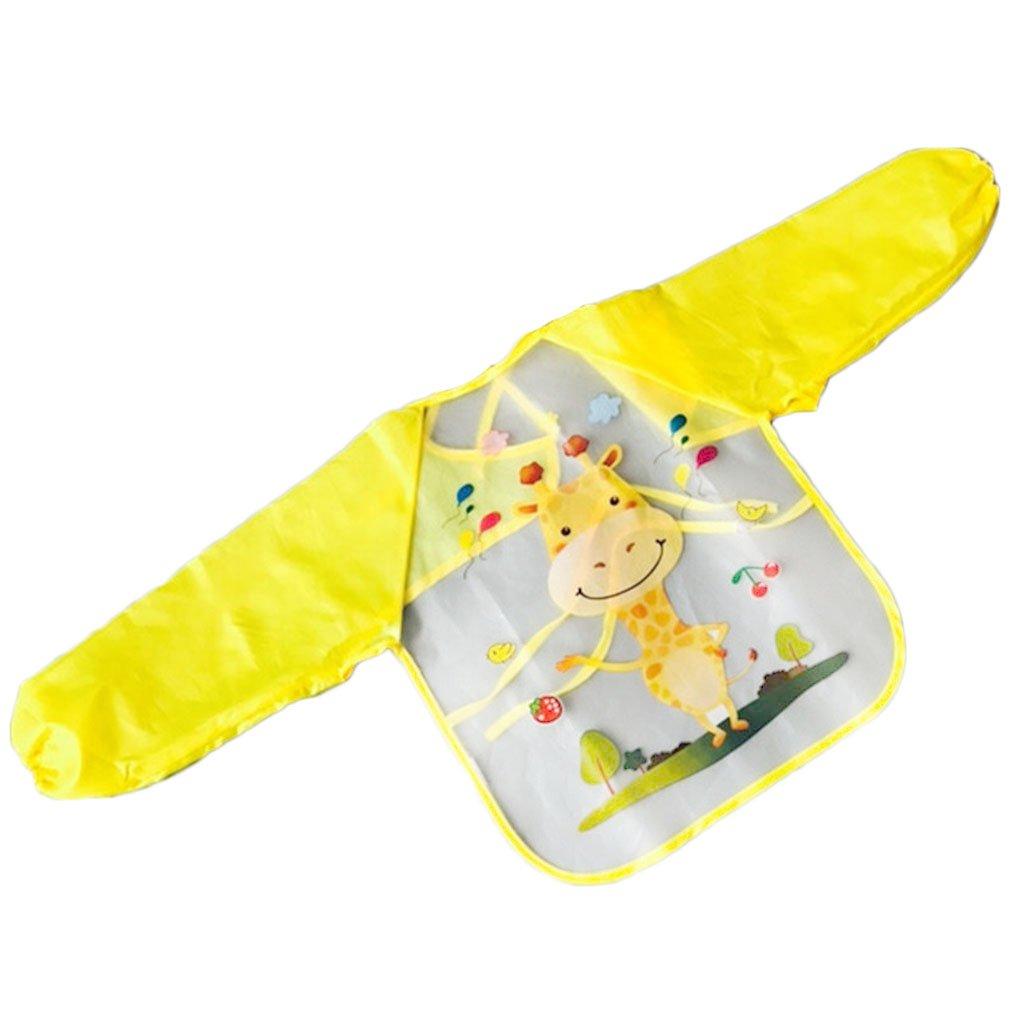 LUFA Cute Waterproof Long Sleeve Animals Kids Painting Apron Newborn Baby Feeding Cloth