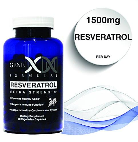 Genex   Resveratol 1500Mg Extra Strength  50  Trans Resveratrol  3X 500Mg Capsules Per 30 Day Serving