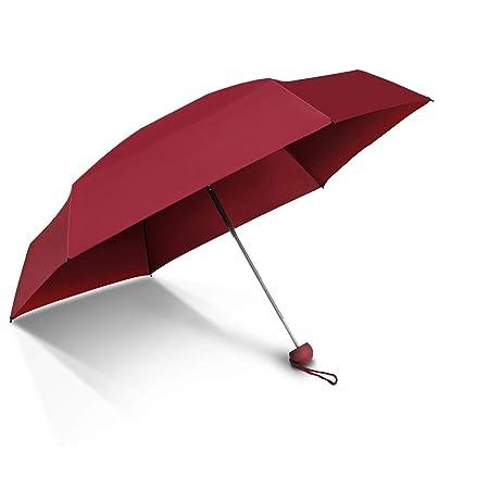 Paraguas De Viaje Plegable Secado RÁPido Compacto Ultra-Light (6.4oz) Super Mini (6.7in) Perfect Protective (95% De Resistencia UV) Con Estuche De CÁPsula ...