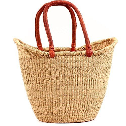 (Baskets of Africa Fair Trade Ghana Bolga African Dye-Free Yikene Tote 15-17 Across, 60926)