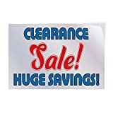 Clearance Sale ! Huge Saving ! Indoor Store Sign Vinyl Decal Sticker - 9.25inx24in,