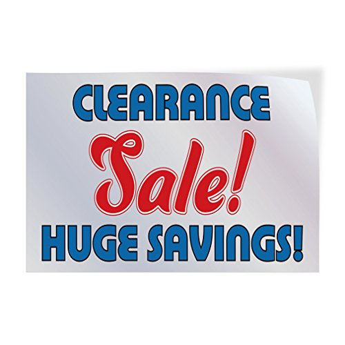 Clearance Sale ! Huge Saving ! Indoor Store Sign Vinyl Decal Sticker - 9.25inx24in, by Sign Destination