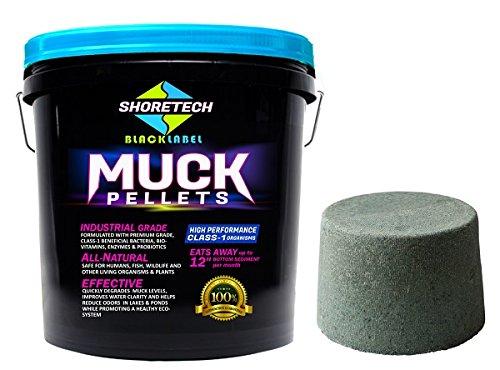 (COMBO PACK - Muck Block & Commercial Grade Black Label Muck Pellets Lake & Pond)