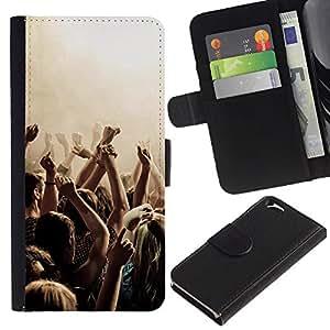 KLONGSHOP // Tirón de la caja Cartera de cuero con ranuras para tarjetas - Música Partido Punk - Apple Iphone 6 //