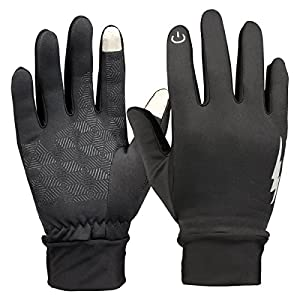 Winter Gloves, HiCool Touch Screen Gloves Thermal Cycling Gloves Driving Gloves for Men and Women (Black, Medium)
