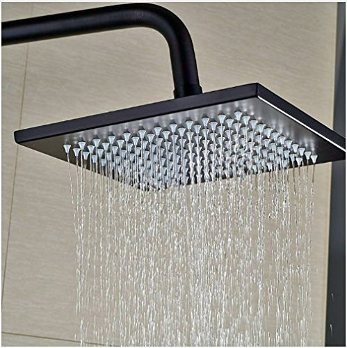 Gowe Single Lever Bathroom Wall Mounted Shower Set 8-in Square Shower Head With Hand Shower Mixer Tap 2