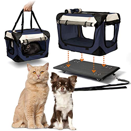 """PetLuv """"Pull-Along Rolling Cat & Dog Carrier & Travel Crate"""