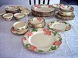 4X 6-Piece Place Settings, PLUS 4 dinner plates & 4 coffee, 37 Pcs. U.S.A. Franciscan DESERT ROSE lot set service earthenware Antique china