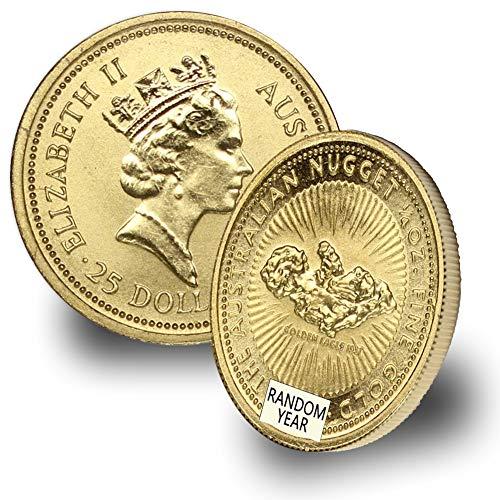 1987 - Present Australia Gold Kangaroo/Nugget (Random Year) 1/4oz .9999 Brilliant Uncirculated ()