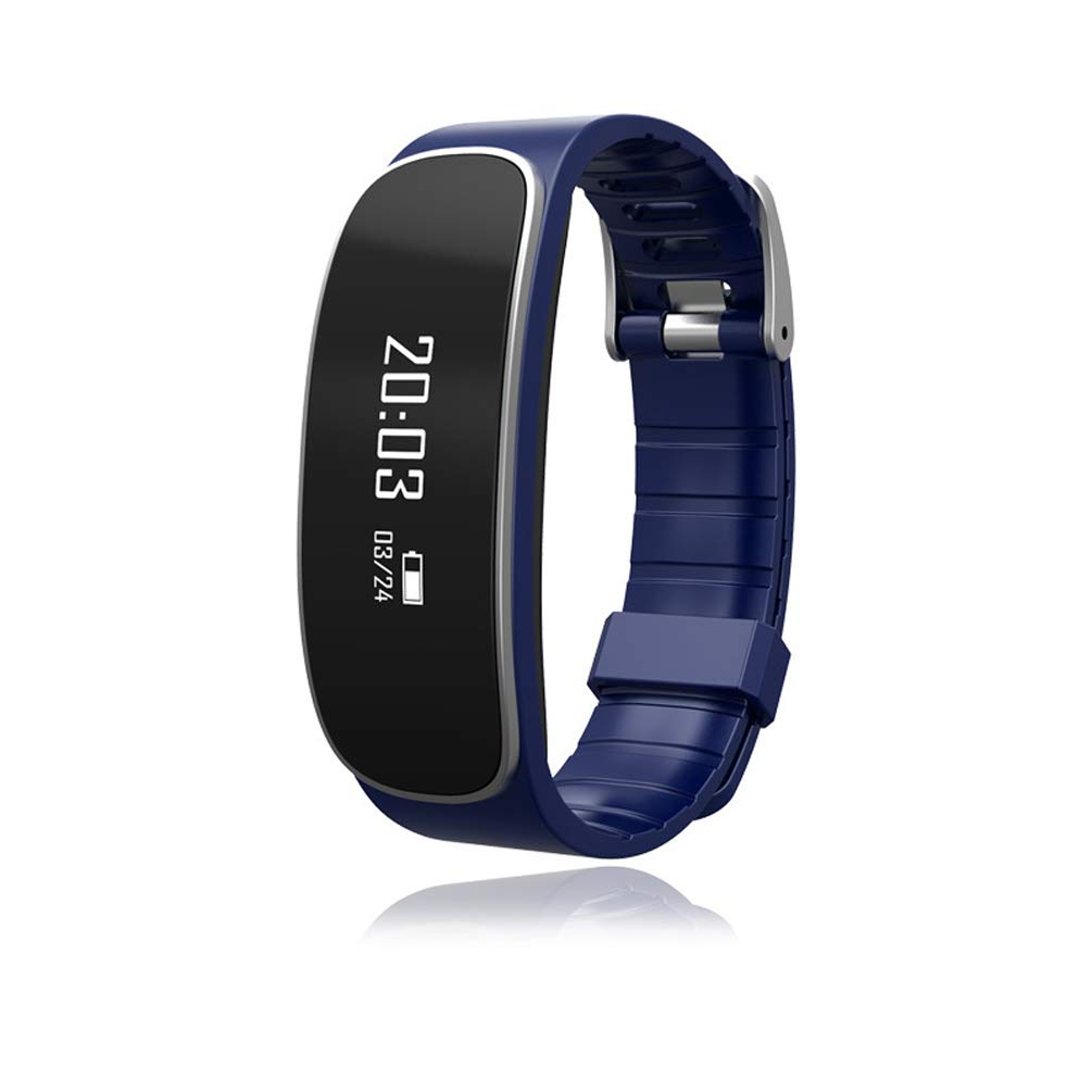 WLLIT Smart Sports Watch/Smart Bracelet,Bluetooth Smart Step Counter Information Call Reminder Exercise Step Count Sleep Heart Rate Monitoring-darkblue by WLLIT