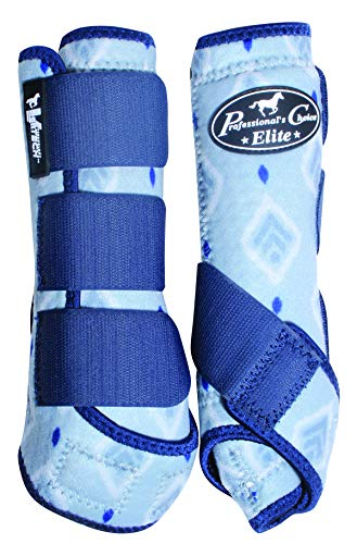 Professional's Choice Ventech Elite Front Pair Horse Equine SMB Medicine Boots Summer Collection Boho (Medium) ()