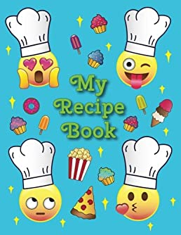 My Recipe Book A Blank Emoji Cookbook Journal For Kids 11 X Rh Amazon Com Cooking Clip Art Borders And