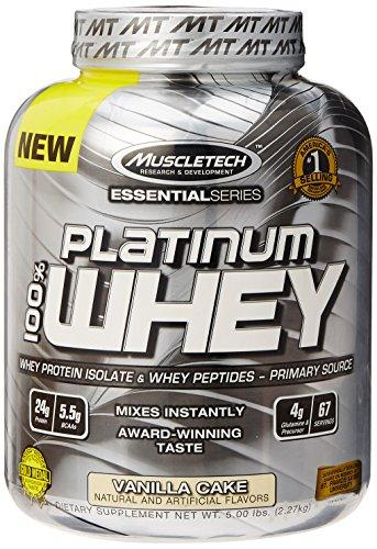 MuscleTech Platinum 100% Whey Protein Powder,  Vanilla Cake,