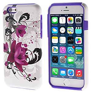 iphone 6 case,iphone 6 cases,iphone 6 hard cover case,Thinkcase Cute Lotus Pattern design 3in1 card holder with stand hard hybrid protective skins case cover for iphone 6 4.7 inch Case cover 06